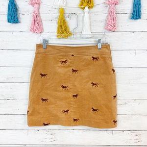 Lilly Pulitzer Vintage Corduroy Pony Mini Skirt
